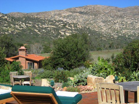 View from one of the pools at Rancho La Puerta