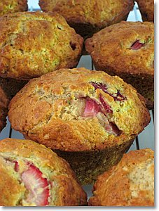 Brunch & Strawberry Rosemary Muffins