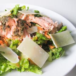 Salmon Caesar Salad / JillHough.com