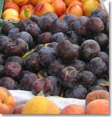 Plums at the farmers market