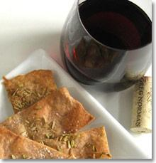 Pinot Noir and crackers on JillHough.com