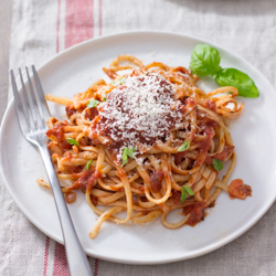 Pasta with Tomato Sauce / JillHough.com From a post about how to make perfect pasta #pasta #spaghetti #spaghetti #tomatosauce