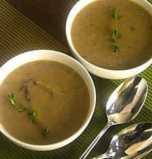 Mushroom Sherry Soup / JillHough.com