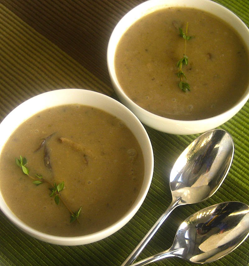 Mushroom Sherry Soup on JillHough.com