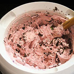 Cherry Ice Cream with Chocolate Chips / JillHough.com