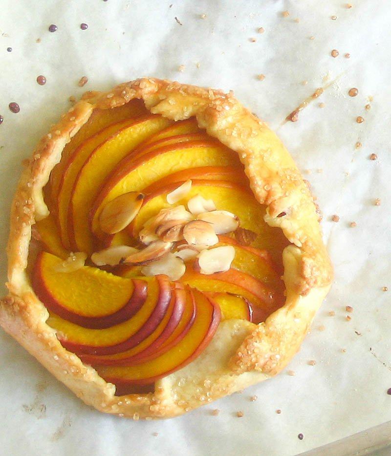 Peach Galettes / JillHough.com