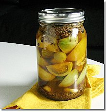 Pickled Green Tomatoes / JillHough.com