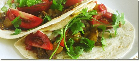 Vindaloo soft taco - horizontal