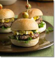 Sausage and Deviled Egg Salad Sliders