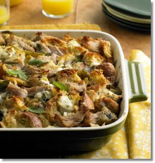 Brunch Strata with Roast Pork