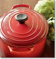Mom's big red Le Creuset pot