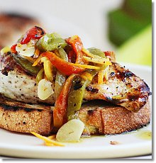 Grilled Chicken with Marinated Peppers / JillHough.com