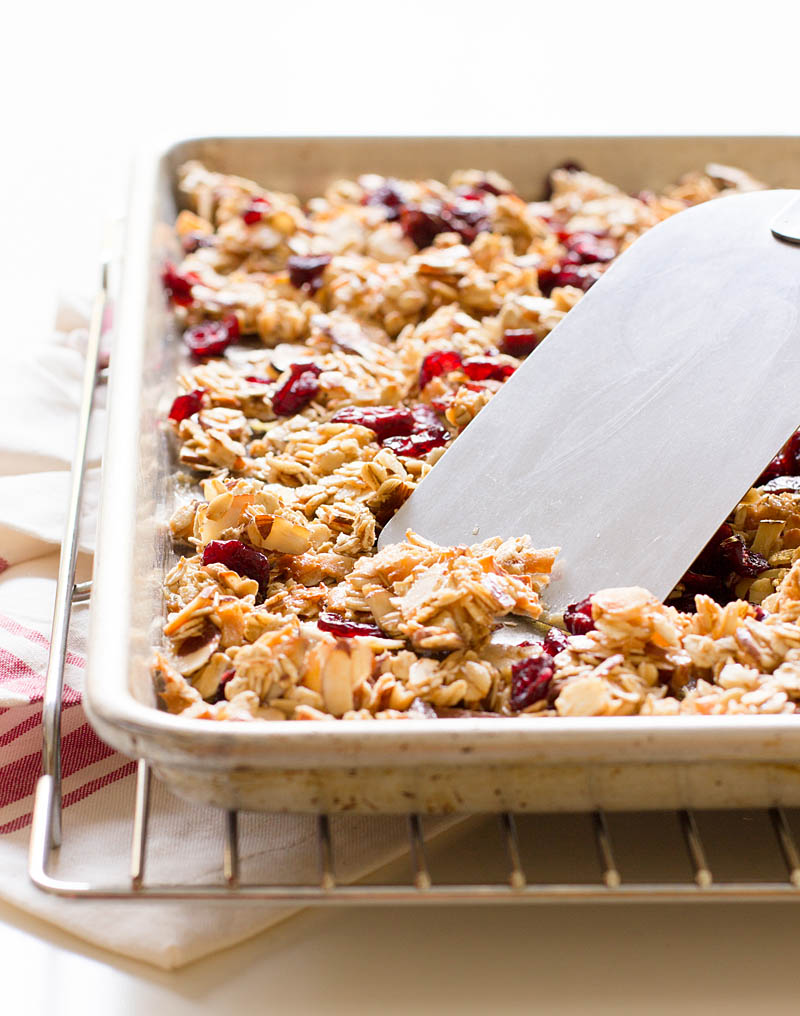 Cherry Almond Granola / JillHough.com