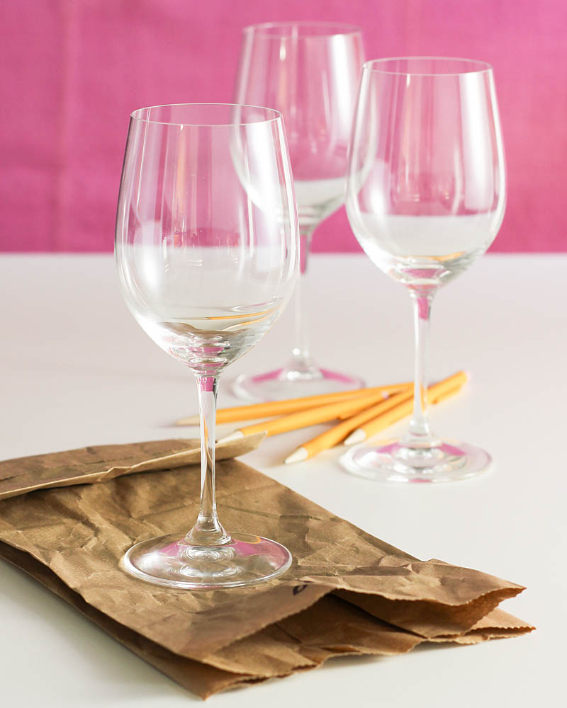 Wine tasting party supplies / JillHough.com