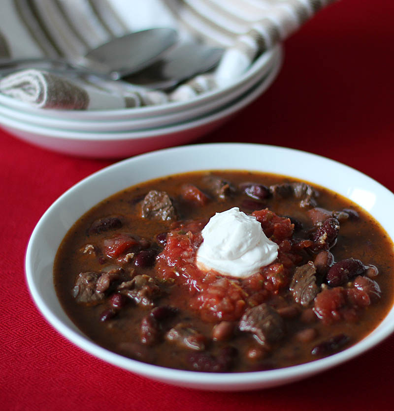 Chunky Beef and Syrah Chili on JillHough.com