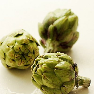 Baby artichokes on Jill Hough.com