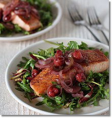 Salmon, Cherry, and Arugula Salad on JillHough.com
