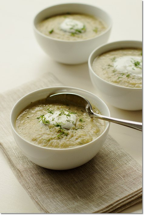 Easy Artichoke Soup with Spring Herbs and Yogurt on JillHough.com