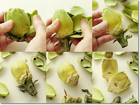 How to prep baby artichokes on JillHough.com