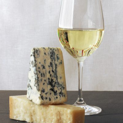 White wine and cheeses / JillHough.com Part of a post with tips for wine and cheese pairing
