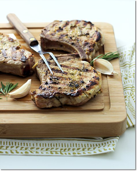 Grilled Pork Chops on Jill Hough.com