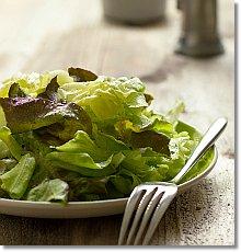 Simple lettuce salad on JillHough.com