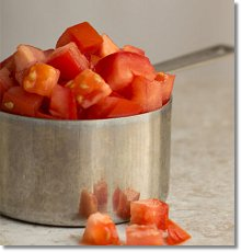 Diced tomatoes on JillHough.com