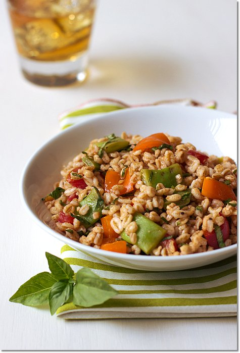 Summer Farro Salad on JillHough.com
