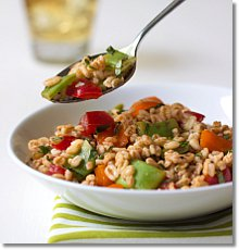 Summer Farro Salad / JillHough.com