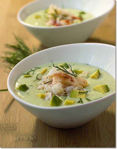 Cucumber and Avocado Soup with Crab on JillHough.com