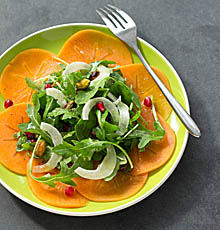 Persimmon, Pomegranate, and Pistachio Salad / JillHough.com