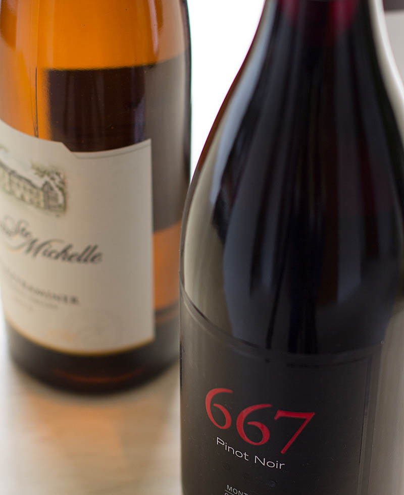 Wine bottles on JillHough.com