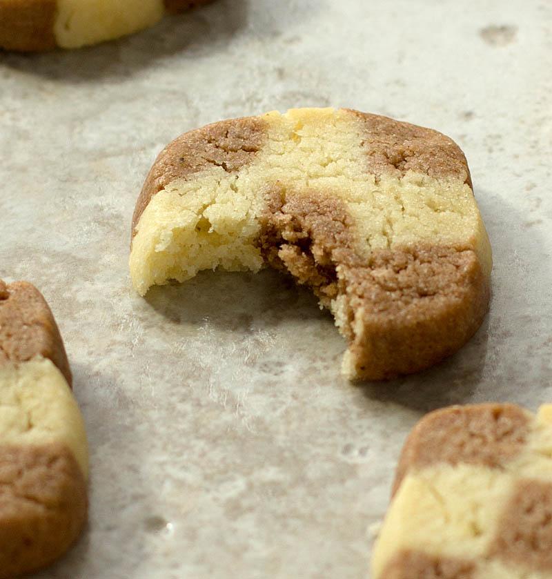 Checkerboard butter cookies on JillHough.com