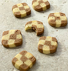 Checkerboard butter cookies / JillHough.com