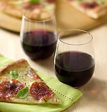 Syrah with Pizza with Salami, Mozzarella, and Fresh Herbs on JillHough.com