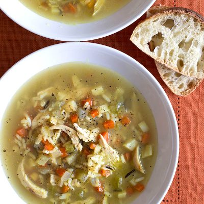 Chicken Soup with Rice / JillHough.com