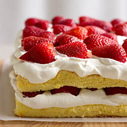 Strawberry Sponge Cake / JillHough.com
