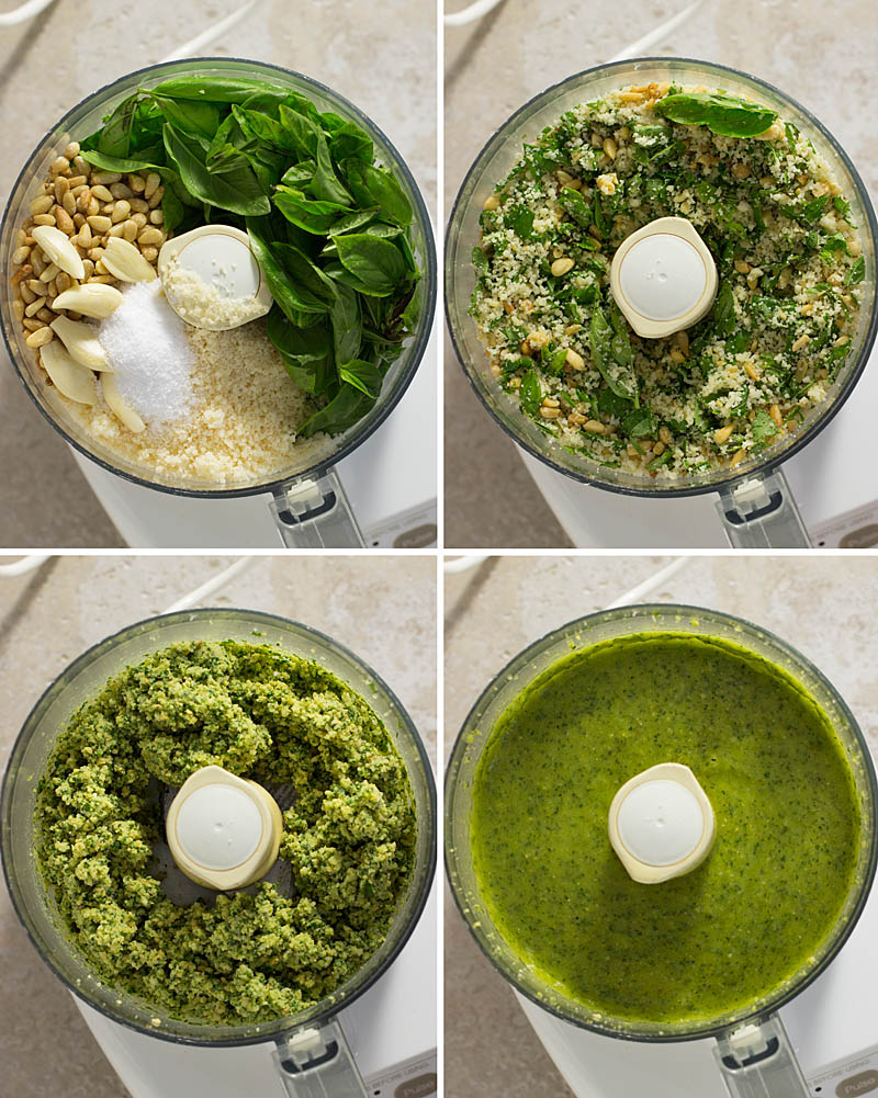 Making Basil Pesto / JillHough.com