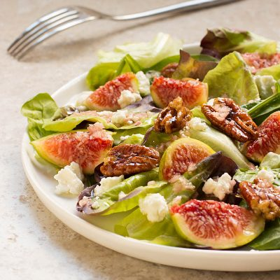 Figs, Goat Cheese, and Mixed Greens / Jill Silverman Hough