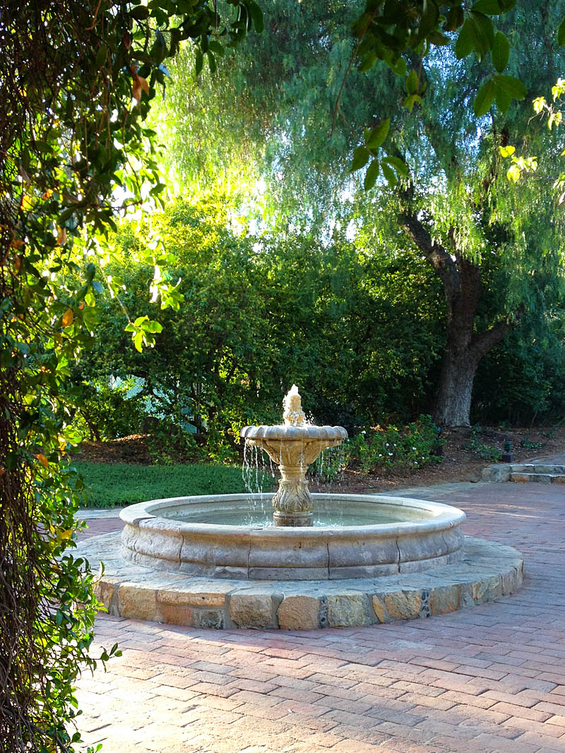 Fountain at Rancho La Puerta / Jill Silverman Hough