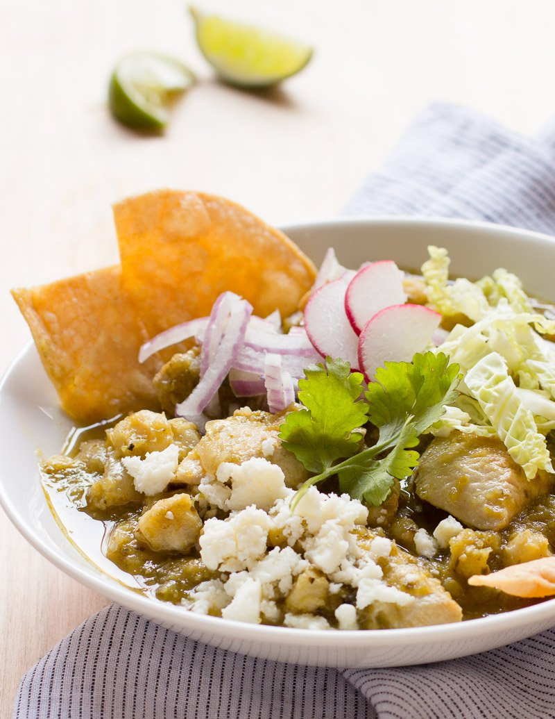 Chicken Posole Verde / Jill Silverman Hough