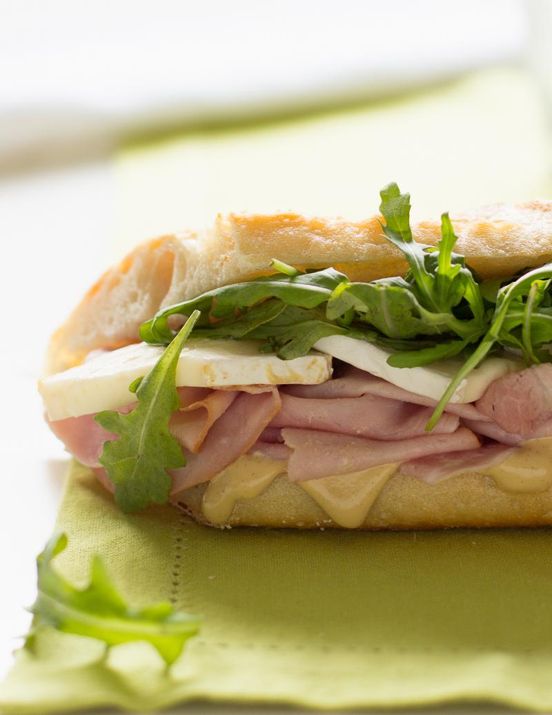 Ham and Brie Baguettes / JillHough.com