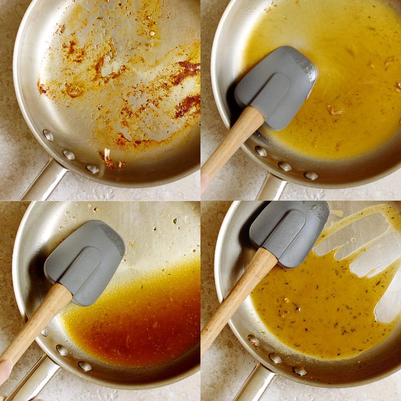 How to make a pan sauce / JillHough.com