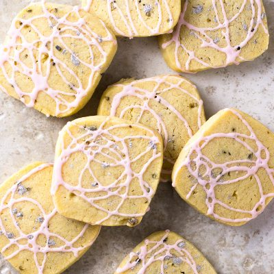 Lavender Butter Cookies / JillHough.com