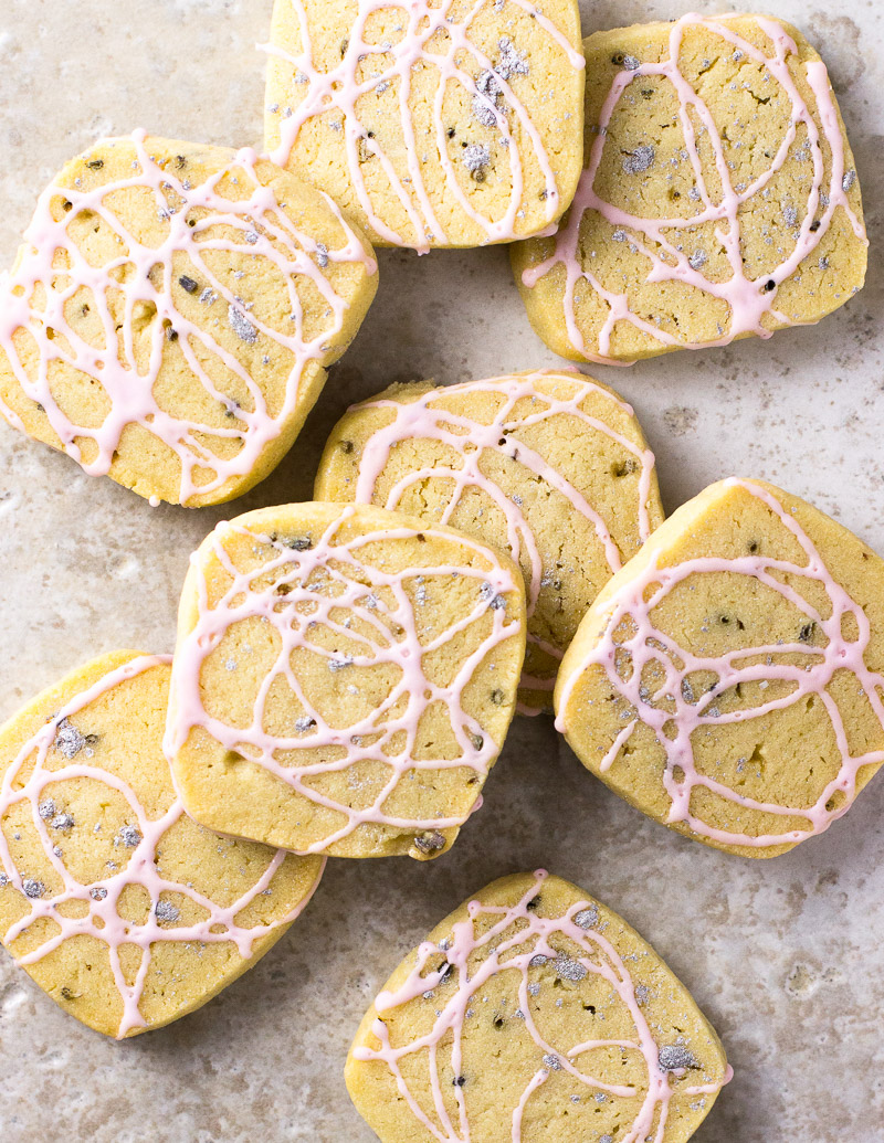 Lavender Butter Cookies / JillHough.com