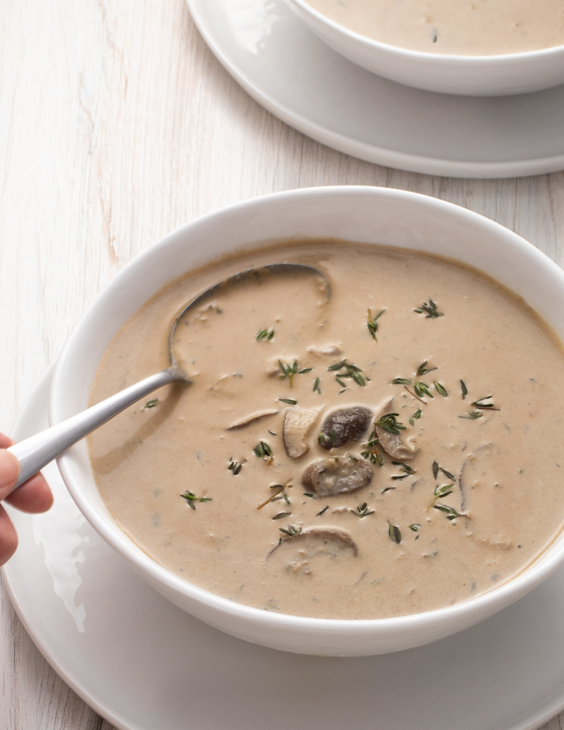 Mushroom Sherry Soup / JillHough.com This is an especially fragrant and luxurious soup, one that's both hearty and delicate at the same time. In addition to the sherry, it's finished with a little crème fraîche, which adds both a silky texture and a delicious tang.