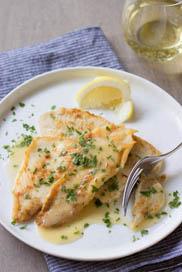 Fillet of Sole with Lemon-Wine Pan Sauce / JillHough.com