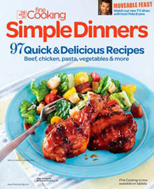 Simple Dinners, the best of Fine Cooking, Summer 2014 / JillHough.com