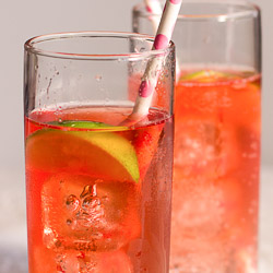 Strawberry Vodka and Tonic / JillHough.com