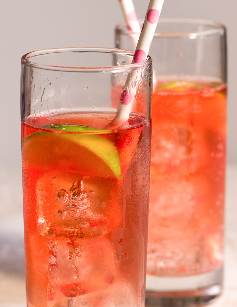 Strawberry Vodka and Tonic
